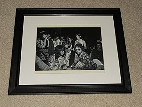 Rolling Stones Keith Richards 29th Birthday 1972 Picture Bob Dylan, Mick Jagger Framed Print - Mick Jagger Band