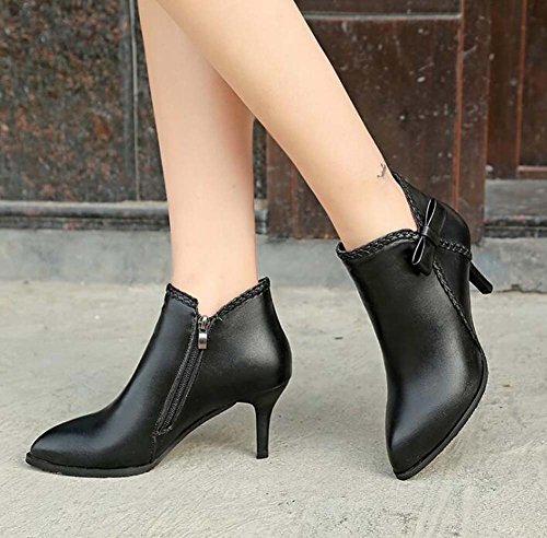 Fashion Black Evening donna amp; Dress Onfly Casual Bootie Stivali Eu Pump Shoes Stivali Comfort Dress da Party 34 Size Basic Walking 40 Wedding Shoes qEYEagw
