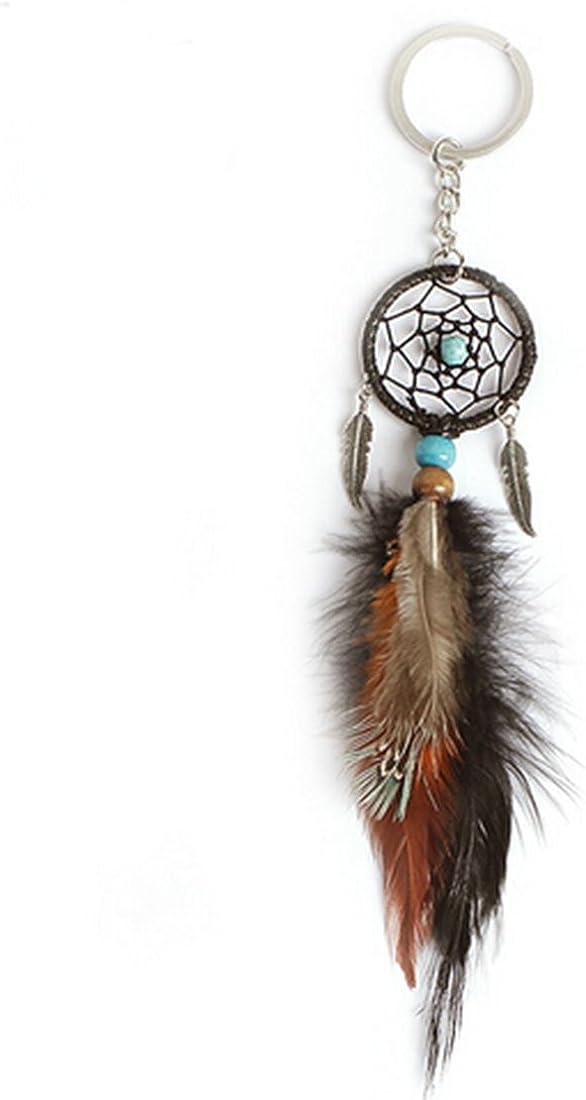 Dreaming Catcher Feather Tassel Key Chain Ring Keyring Pendant Keychain HZ