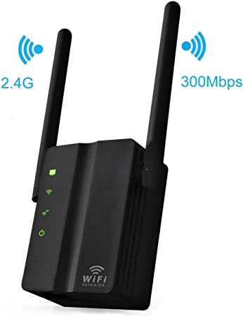 Extensor de red WiFi inalámbrico MSDADA 2.4 GHz 300 Mbps doble antena externa inalámbrica amplificador WAN & LAN interfaz de red inalámbrica ...