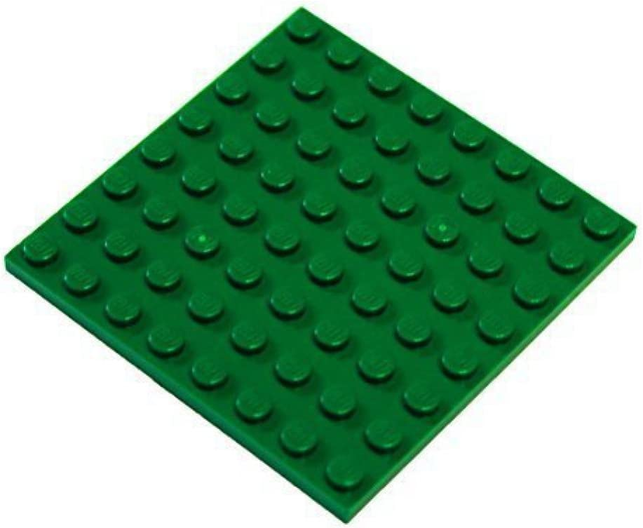 LEGO Parts and Pieces: Green (Dark Green) 8x8 Plate x4