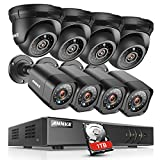 ANNKE 8CH Security System 1080N DVR Recorder with 1TB HDD and (8) HD Weatherproof Camera with Super Night Vision, QR Code Scan, Plug & Play, HDMI Output