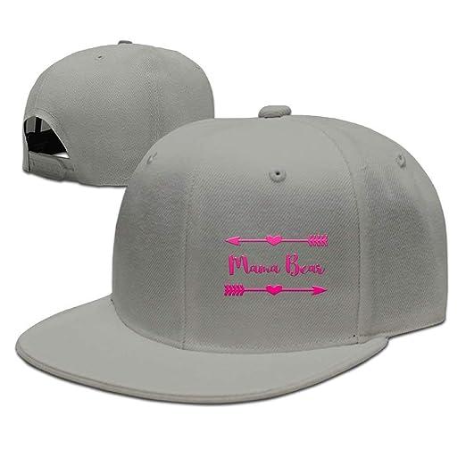 8a98abff5a6 Mama Bear Pink Unisex Snapback Adjustable Flat Bill Baseball Cap at Amazon  Men s Clothing store