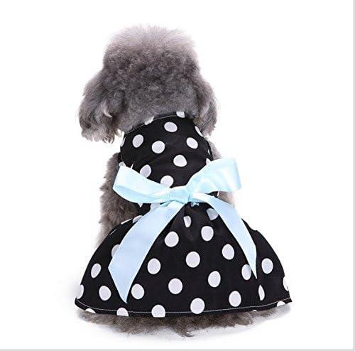 Wicemoon Falda Negra para Mascota, diseño de Lunares Blancos ...