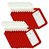 BlueCosto Luggage Tags Suitcase Tag Bag Labels Travel Accessories - Red,20 Pack