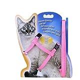 Adjustable Durable Pet Rabbit Cat Kitten Leashes Belt Harness Collar Animal Walking Lead(Pink)