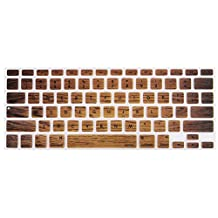 Mosiso Keyboard Cover for Macbook Pro 13 Inch, 15 Inch (with or without Retina Display, 2015 or Older Version) Macbook Air 13 Inch, Brown Wood Grain