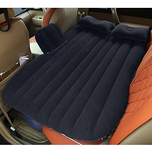 Car Bed Back Seat Inflatable Air Mattress for Camping Travel Black ()