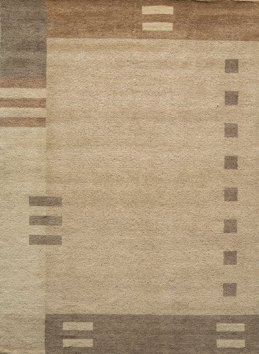 Momeni Rugs GRAMEGM-09BRN5080 Gramercy Collection, 100% Wool Hand Loomed Contemporary Area Rug, 5' x 8', Brown