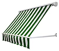 Awntech 5-Feet Mesa Window Retractable Awning, 24-Inch Height by 24-Inch Diameter, Forest/White
