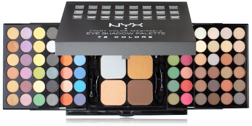 NYX Palette Ombre à Paupières Ombre à Paupières Palette, 78 couleurs, applicateur / Miroir