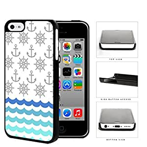 Ship Captain's Wheel And Anchor Pattern Hard Plastic Snap On Cell Phone Case Apple iPhone 5c