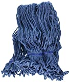KLEEN Handler Heavy Duty Commercial Mop Head Replacement, Wet Industrial Blue Cotton Looped End String Cleaning Mop Head Refill (Pack of 6)