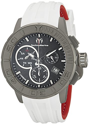 (Technomarine Men's TM-515004 Titanium Reef Analog Display Swiss Quartz White Watch)