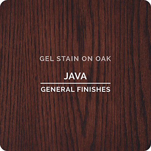 General Finishes Gel Stain Pint Or Furniture Oil Topcoat: General Finishes JH Gel Stain, 1/2 Pint, Java 881314534685