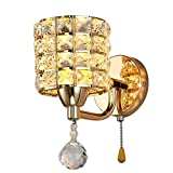Crystal Wall light, LEDMOMO Modern Luxury Decorative Crystal Wall Lights Bedside Wall Lamp Sconce for Home Decor