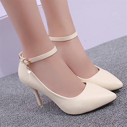f4118e38 SHINIK 2018 zapatos de primavera nuevos de las mujeres tacones altos  zapatos negros de las señoras