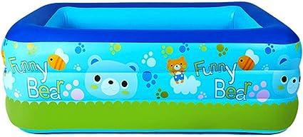 Ljf Piscina Inflable Familiar, portátil, fácil de Plegar, Piscina para niños Adultos, Piscina Inflable para bebés, Terraza al Aire Libre, Azul, 2 tamaños (Color : 150CM): Amazon.es: Deportes y aire libre