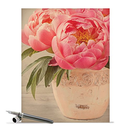 J6553DTYG Jumbo Thank You Card: Full Blooms With Envelope (Extra Large Version: 8.5'' x 11'')