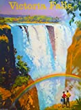 Victoria Falls Zimbabwe Africa African Vintage Travel Art Collectible Wall Decor Poster Advertisement Print. Measures 10 x 13.5 inches