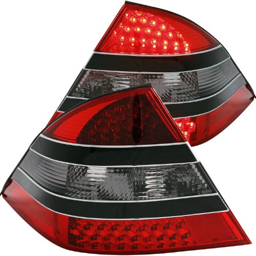 - Anzo USA 321118 Mercedes-Benz Red/Smoke-Black Center LED Tail Light Assembly - (Sold in Pairs)