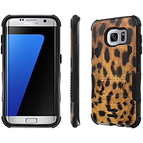 Galaxy S7 Edge Case, [NakedShield] [Black/Black] Combat Tough SHOCK PROOF with KICKStand - [Leopard] for Samsung Galaxy S7 Edge / GS7 Edge [5.5 Sales