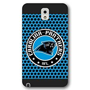 UniqueBox Customized NFL Series Case for Samsung Galaxy Note 3, NFL Team Carolina Panthers Logo Samsung Galaxy Note 3 Case, Only Fit for Samsung Galaxy Note 3 (Black Frosted Shell)