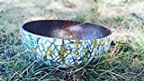 A30 - Coconut bowl with Eggshell inlaid - Blue Iceberg