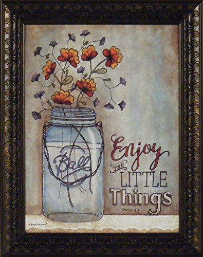Enjoy The Little Things by Tonya Crawford 16x20 Ball Mason Jar