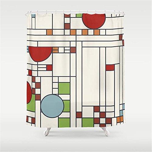 Weeya Frank lloyd wright pattern S02 Shower Curtain 60x72 inch