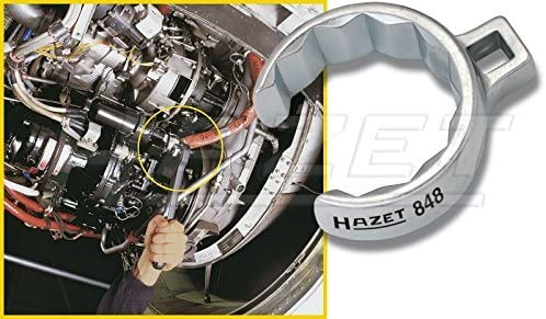 HAZET 848Z-32 Offene Doppel-Sechskant Ringschl/üssel