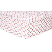 Trend Lab Coral Quatrefoil Deluxe Flannel Fitted Crib Sheet, Coral