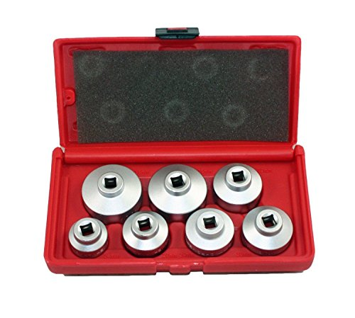 - 7 PC OIL FILTER CARTRIDGE SOCKET SET METRIC 24 27 29 30 32 36 38mm