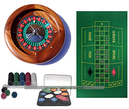 Dal Negro Home Mahogany Roulette Bundle Masters Traditional Games