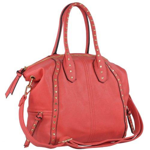 mg-collection-sammy-large-coral-studded-shopper-hobo-tote-bag-w-shoulder-strap