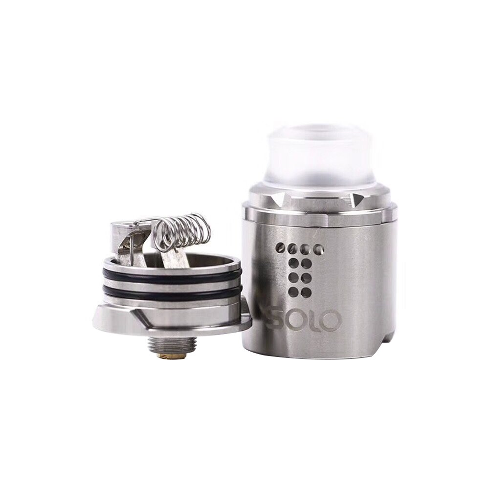 Digiflavor Drop Solo Rda Single Coil 22mm 24mm With Two Caps Goon Styled Rebuildable Dripping Atomizer Black Standard 510 And Bf Squonk Pin Deep Base No Nicotine E Liquid