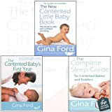 Gina Ford 3 Books Bundle Collection With gift journal (The New Contented Little Baby Book,The Complete Sleep Guide For Contented Babies and Toddlers,The Contented Baby's First Year[Hardcover])