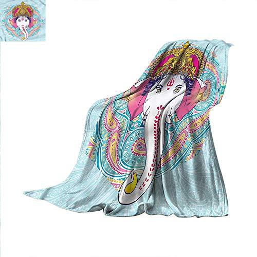 Asian Throw Blanket Paisley Leaves Ceremony Velvet Plush Throw Blanket 90
