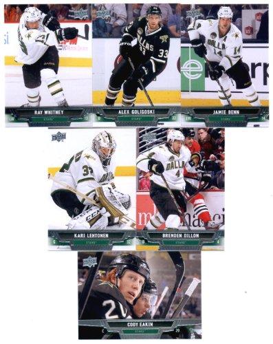 2013-14 Upper Deck NHL Hockey Dallas Stars Series 1 & 2 Veterans Team Set -13 Cards Including: Jamie Benn Alex Goligoski Ray Whitney Cody Eakin Brenden Dillon Kari Lehtonen (Benn Ray)