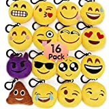 Best Emoji Backpacks For Kids - MelonBoat 16 Pack Emoji Mini Plush Pillows, Keychain Review