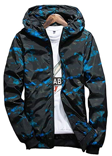 Camouflage Camouflage Camouflage BOLAWOO con con con Cappuccio con Uomo Vento Autunno Giacca Giacca Blau Mode A Giacca di qRU6qS