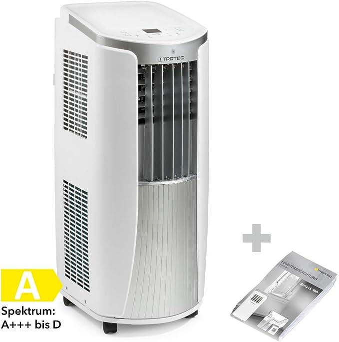 TROTEC Acondicionador de aire local PAC 2010 E de 2.1 kW / 7.200 Btu (EEK: A) 3-en-1 del acondicionador de aire incluido AirLock 100: Amazon.es: Bricolaje y herramientas