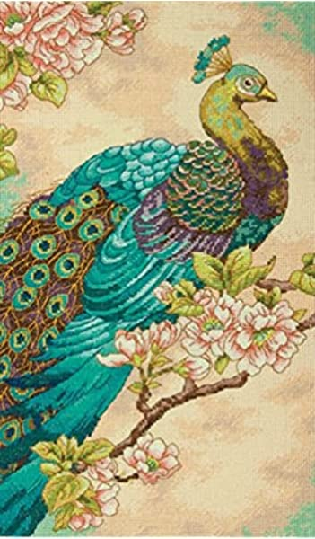 DIMENSIONS Indian Peacock Counted Cross Stitch Kit-9
