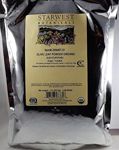 Starwest Botanicals Organic Olive Leaf Powder, 1 Pound
