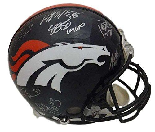 Denver Broncos Team Signed Sb 50 Fs Speed Proline Helmet 15 Sigs 19040 - JSA Certified - Autographed NFL Helmets