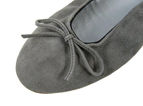 Donne ante Carbonio Grau Women's Delle ante Clic Ballet Ballerine Grau Clic Carbon Flats 7FwzPqxwf