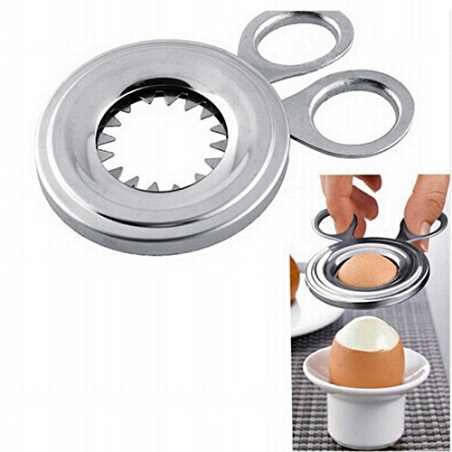 LALICORP Stainless Steel Egg Tools Cooking Appliances Boiled Egg Case Shell Peeler Cooking Eggs Slicer Cutter Scissors