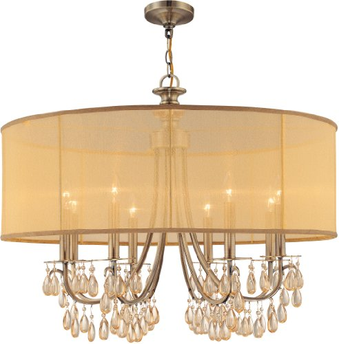 Crystorama 6765-DT Crystal Accents Three Light Mini Chandeliers from Garland collection in - 3 Mini Light Chandelier Garland
