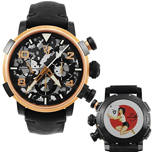 Romain-Jerome-Pinup-DNA-Red-Gold-WWII-Lily-Card-Chronograph-Automatic-Mens-Watch-RJPCH00301