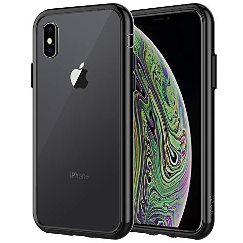 JETech Funda para Apple iPhone XS y iPhone X, Carcasa Bumper, Shock-Absorción y Anti-Arañazos (Negro)